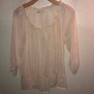 Old Navy sheer champagne colored top